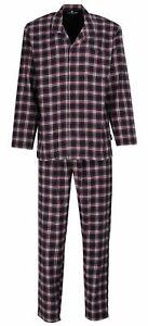 TOM TAILOR Pyjama Schlafanzug Herren Nachtwäsche Sleepwear Langarm Knopfleiste