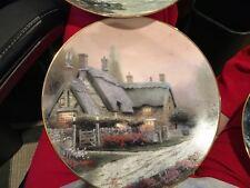 Thomas Kinkade Mckennas Cottage Vintage Plate 1992 No 1370 D