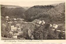 26361 Foto AK Elbsandsteingebirge Porschdorf und Rathmannsdorf Plan um 1943