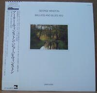 George Winston Ballads and Blues 1972 Piano Solos Japan pressing  w/ OBI NM