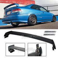 For 96-00 Honda Civic Mugen Style Trunk Wing Spoiler 2Dr Coupe w/ black emblems