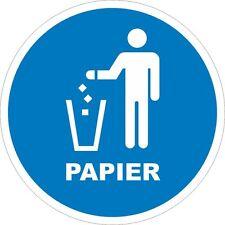 Papiertonne Mülleimer Aufkleber Mülltonne Recycling Mülltrennung 200mm 10794