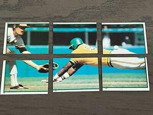 1983 Topps Stickers Rickey Henderson 6 Piece Sticker #197-202 Oakland Athletics