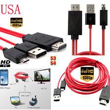 2 M 6 ft (approx. 1.83 m) Micro USB MHL a HDMI Cable Adaptador Convertidor Para Teléfonos Samsung Galaxy