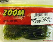 ZOOM CURLY TAIL WORMS 010-054 WATERMELON RED
