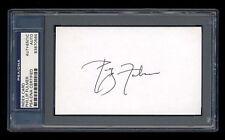 Phillip Fulmer Signed Index Card Mint Psa/Dna Slabbed Hof Autographed Tennessee