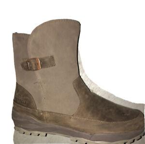 NWOB Merrell Icepack Buckle Polar Waterproof Boots J16914 Stone Brown Womens 8 M