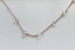 NWT Pura Vida April 2021 Jewelry Club Rose Gold Opal Necklace