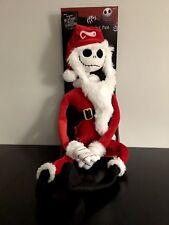 """Nightmare Before Christmas Jack Skellington Santa 24"""" Plush- Poseable Figurine"""