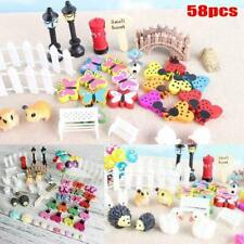 58PCS Fairy Garden Dollhouse Miniature Ornament Kit Storage Kids Gifts With V3G3