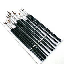 NUOVO 12 PZ artisti pittura Brush Set BELLE hobby artigianato MODELLISMO pennelli KIT