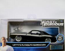 """Letty's 1970 Plymouth Barracuda  schwarz     """"Fast & Furious""""  /  Jada 1:32"""