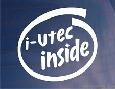i-VTEC INSIDE Novelty Car/Window/Bumper Sticker Ideal for Honda Civic/Accord
