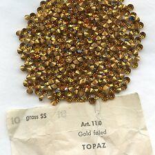 1100/SS18/T*** 30 STRASS ANCIENS SWAROVSKI TOPAZ SS18(4,3mm) *** x30