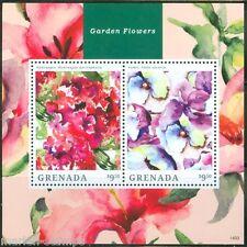 GRENADA  2014 GARDEN FLOWERS  SOUVENIR SHEET I  MINT NH