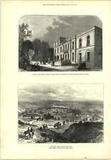 1877 Valle di Lom Place St Georges rue Notre Dame de Lorette Parigi Incisione