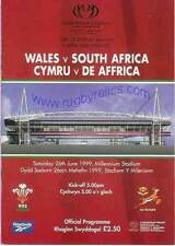 WALES v SOUTH AFRICA 1999 RUGBY PROGRAMME & DVD SET - BLOOD SWEAT & TEARS