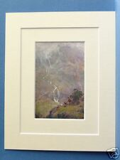 YEWDALE SHEPHERD CONISTON CUMBRIA RARE VINTAGE DOUBLE MOUNTED PRINT 10X8