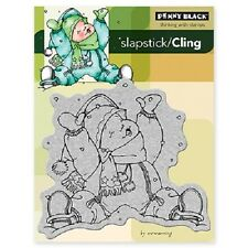 PENNY BLACK RUBBER STAMPS SLAPSTICK CLING IN THE SNOW NEW cling STAMP