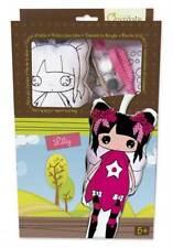 Puppe Lily aus Stoff zum Bemalen inkl. Farben und Pinsel, Stoffpuppe ca. 30 cm