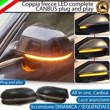 COPPIA FRECCE SPECCHIETTI LED DINAMICHE PROGRESSIVE SEQUENZIALI VW TOURAN 1T3