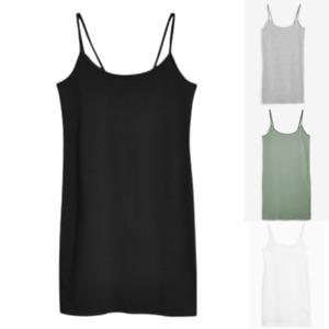 Womens Ladies Next Long Thin Strap Vest Top Black Size 12 14 16 18 20 22 24 26
