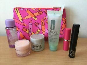 Clinique Cosmetics Bag and 6 Skin Care / Cosmetics Products