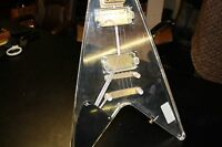 Galveston Clear Acrylic/Lucite Flying V Electric Guitar