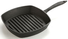 Lagostina Preseasoned Cast Iron square grill pan 26cm 10inch paypal