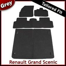 Renault Grand Scenic Mk2 2003-2009 Tailored Fitted Carpet Car & Boot Mats GREY