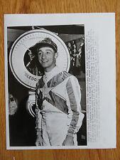 Original Jockey EDDIE ARCARO 4-11-55 News of a Double Suspension AP PHOTO