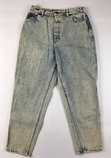Vtg 80s Lee Riders Womens Jeans 12P 12 Acid Wash High Waist Tapered Moms