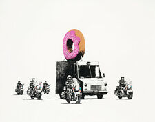 Banksy Strawberry Donuts Canvas 16 x 20  #6946