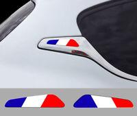 SET 2 STICKERS LOGO FRANCE 208 PEUGEOT GTI SPORT AUTOCOLLANT AUTO BD558FR