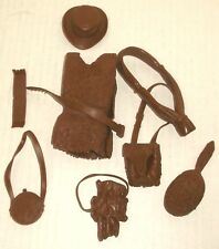 MARX cxr SCOUT GEAR soft brown DANIEL BOONE accessories MOUNTAIN MAN hats, skins