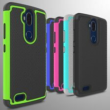 For ZTE Blade Max 3 / Max Blue Case Tough Protective Hard Hybrid Phone Cover