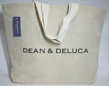 DEAN & DELUCA Natural cotton Jute Bag / Large / Height 16' x W 22' x Handle 8'