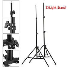 2x Light Stand Lamp Holder Flash Video Studio Bracket Adjustable Tripod Support