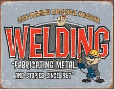 Busted Knuckle Garage Welding And Fabricating TIN SIGN Shop Wall Poster Decor