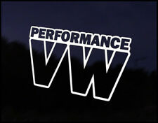 Performance VW Car Decal Sticker JDM Vehicle Bike Bumper Graphic Funny