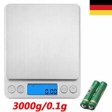 Digitale Küchenwaage Feinwaage Kitchen LCD Haushaltswaage 3kg/0,1g Grammwaage DE