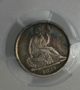 1837 H10C PCGS VF35 NO STARS, SMALL DATE,  Half Dime,  Seated Liberty Half Dime