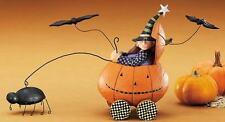 "WITCH in Pumpkin Car - ""Pumpkin Buggy Ride""- Williraye - 6050 - New in Box"