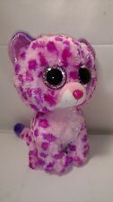 """Ty Beanie Boos Buddy ~ Glamour the 8-9"""" Medium Leopard- Claires Exclusive"""
