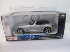 Maisto 1:24 178982 Mercedes SLS AMG Roadster,silber  WS9829