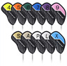 11pcs Craftsman Golf Iron Wedge Club Headcovers Covers Set for Taylormade Mizuno