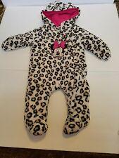 Disney Baby sz 3-6 mths Winter Warm Fleece Romper  Bodysuit Hooded Jumpsuit