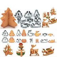 8Pcs Quality Stainless Steel 3D Christmas Biscuit Cookie Cutter Cake Baking Mold