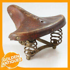 Germany Brown Leather Bicycle Bike Cycle Sprung Suspension comfort Saddle Seat