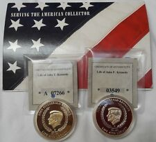 2012 American Mint LIFE OF JOHN F KENNEDY Series 24K Gold Layered LOT of 2 *
